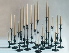 Bronze candlesticks by Ted Muehling