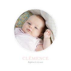 faire part naissance Pois chics photo by Tomoë pour www.fairepartnaissance.fr #birth #announcement #rosemood