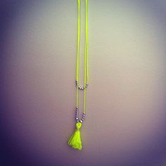 Fluro necklace