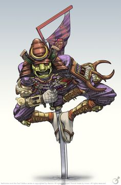 Yoshimitsu in his Soul Calibur 2 Character Design References, Game Character, Soul Calibur 2, Soul Edge, Anubis Tattoo, Ninja Art, Demonology, Samurai Art, Video Game Art