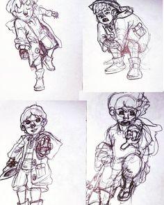 #sketchbook #sketch #concept #characterdesign pushing a people sketch