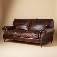 Dustin leather sofa