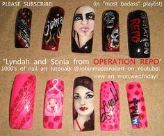 Nail-art by Robin Moses: operation repo nails, robin moses nail art, lynda pizarro, Sonia operation repo nail, tru tv nails, trutv nails, ce...