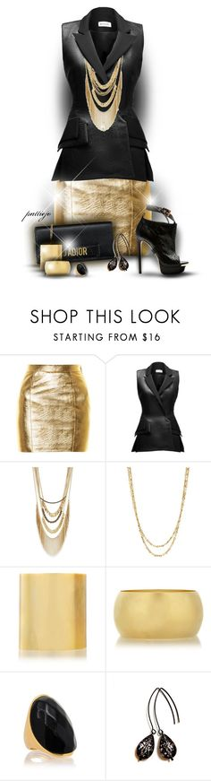 """""""Rock This World"""" by rockreborn ❤ liked on Polyvore featuring Yves Saint Laurent, Maticevski, BCBGeneration, Citrine by the Stones and Kenneth Jay Lane"""