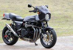 RCM-337 / Z1-R Kawasaki Cafe Racer, Kawasaki Motorcycles, Cafe Bike, Sport Bikes, Custom Bikes, Honda, Vehicles, Spirit, Motorbikes