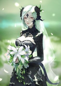 Hochzeit by Yi Cat on Kai Fine Art Fantasy Girl, Final Fantasy Art, Fantasy Kunst, Dark Fantasy Art, Fantasy Artwork, Fantasy Male, Fille Anime Cool, Art Anime Fille, Cool Anime Girl