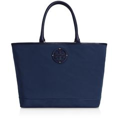 Tory Burch Stacked Logo Tote ($295) ❤ liked on Polyvore