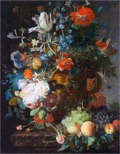 Jan van Huysum - Stillleben mit Blumen und Früchten
