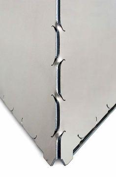 Killer new production method: Metal origami Like this.