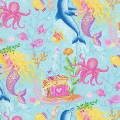 Mermaid fabric.