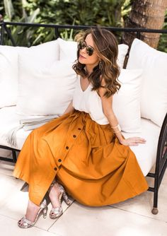 Cami and Midi Skirt - Floral Maxi Dress - Easy Brunch Outfits For Anyone // Notjessfashion.com