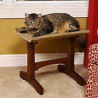 Cheap Mr Herzhers Craftsman Series Early American Brown Single Seat Cat Perch…