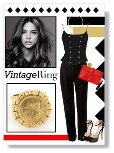 """Vintage Gold Coin Ring"" by remysg21 on Polyvore"