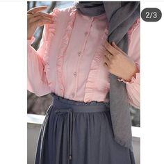 ? Pinterest: N. Somaya Modest Fashion Hijab, Hijab Style Dress, Modern Hijab Fashion, Modesty Fashion, Skirt Fashion, Fashion Dresses, Dress Outfits, Muslim Women Fashion, Arab Fashion
