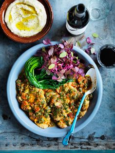 Over recipes from Australia's leading gourmet food magazine, Australian Gourmet Traveller. Lamb Recipes, Greek Recipes, Wine Recipes, Indian Food Recipes, Gourmet Recipes, Healthy Recipes, Ethnic Recipes, Sofrito Recipe, Greek Cooking
