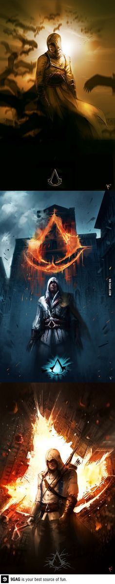 Assassins Creed Trilogy with Dark Knight Style.