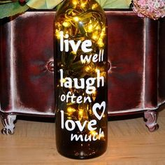 Wine Bottle Crafts With Lights–so Sick Of This Saying, But A Good Wine One Would Be Funny - Click for More...