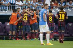Las imágenes del Málaga-Barça