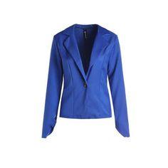 Stylish Lapel Long Sleeve Solid Color Slimming Women's Blazer
