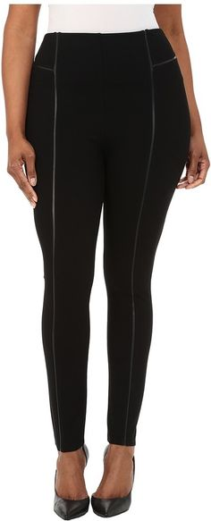 Lysse Plus Size Leather Inset Leggings * You can find more details by visiting the image link.