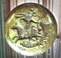 Sassanian bowl,silver and gold Persia