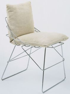 "Sof-Sof Chair      			 Enzo Mari (Italian, born 1932)      			   	              	              	         	1971. Chrome-plated iron and fabric, 31 1/2 x 18 x 20 7/8"" (80 x 45.7 x 53 cm). Manufactured by Driade S.p.A., Italy."