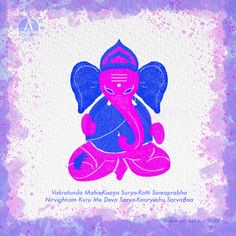 cute Ganesha will help you to break your obstacles.  Vakratunda Maha-Kaaya Surya-Kotti Samaprabha Nirvighnam Kuru Me Deva Sarva-Kaaryeshu Sarvadaa    #cuteganesha #lordganesha #cutegods #goodmorning #spritualquotes Lord Ganesha, Good Morning, Photoshop, Digital, Cute, Movie Posters, Painting, Buen Dia, Bonjour