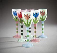 Vinglas Ulrika Hydman Vallien Wine Glass, Glass Art, Kosta Boda, Martini, Scandinavian, Tableware, Diy, Beautiful, Glass
