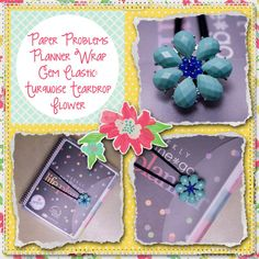 Planner covers, goodies & more for Erin Condren, Plum paper, inkwell press, limelife, simplified life, arc, mambi happy planner & more. Visit my Etsy listing at https://www.etsy.com/listing/230888844/new-turquoise-teardrop-flower-speiality