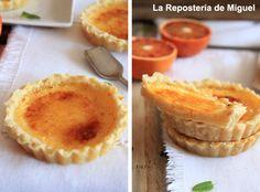 Orange brulee tart