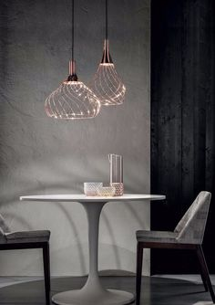 This charming suspension lamp is named after the first hot air balloon and it has the same lightness and charming elegance. The Mongolfier pendant lamp by the Italian manufacturer Ma & DE consists of an organic structure of enveloping lines that wind a. Interior Lighting, Home Lighting, Lighting Design, Lighting Stores, Modern Kitchen Lighting, Kitchen Chandelier, Decoration Inspiration, Unique Lamps, Modern Interior Design