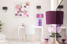 Salon/salle à manger circle rose/parme - Coaching Décoration |