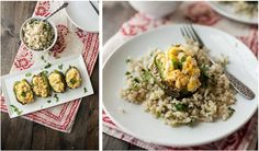 Sweet Corn and Goat Cheese Stuffed Peppers | Naturally Ella Cheese and corn ideas