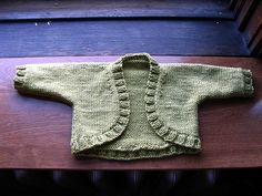 Knitted Debbie Bliss Bolero sizes 3 - 24 months free pattern