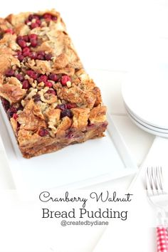 This delicious Holiday bread pudding recipe will be the perfect dessert for any Holiday meal. Freeze cranberries if you want this in the spring time at your Easter Dinner, perfect for Christmas time, Thanksgiving and New Years. A warm and delicious dessert