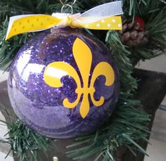 Personalized Christmas Ornaments  fleur de by MyLittleLadybugGifts, $6.00
