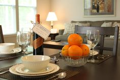 Affinity Corporate Living- dining room table
