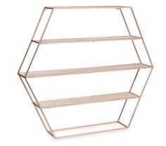 COPPER ROSE GOLD HEXAGON GEOMETRIC MODERN SHELF SHELVES HOME DECOR ACCESSORIES in Home, Furniture & DIY, Storage Solutions, Storage Units | eBay!