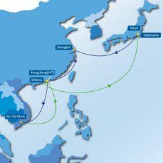 JCVN SERVICE:  Yokohama - Tokyo - Shanghai - Hong Kong (HIT) - Ho Chi Minh - Hong Kong (HIT) - Shekou - Yokohama