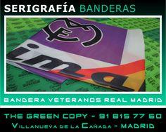 Impresión de Banderas para Veteranos Real Madrid - Villanueva de la Cañada - The Green Copy Madrid - Impresión Gran Formato