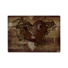 Steampunk Love Glass Cutting Board