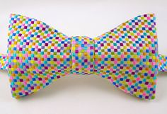 Thistle Bow Tie - Pure Silk - Check It Out. £45.00, via Etsy.