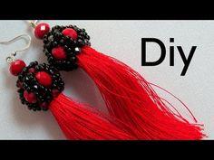Diy Bijoux - Brinco de Tassel com Cristais e Miçangas ! - YouTube