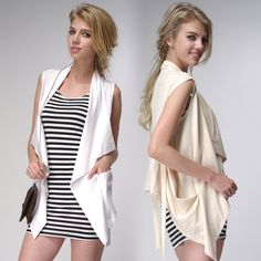 Long bi-Joker shawl vest in the original design chiffon sleeveless Cardigan vest waistcoat small jackets women