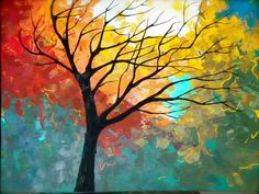 My tree painting colorful paintings, beautiful paintings, tree paintings,. Tree Of Life Painting, Abstract Tree Painting, Moon Painting, Painting Trees, Beautiful Landscape Paintings, Colorful Paintings, Tree Paintings, Acrylic Paintings, Graffiti