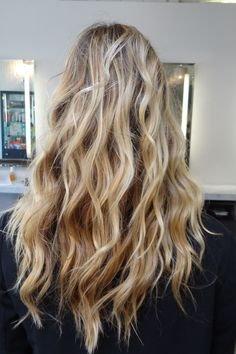 Gorgeous beachy waves. Hair cut and style by Neil George Salon stylist Gareth Bromell.