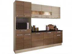 Cozinha Compacta Madesa Glamy Rubi com Balcão - 10 Portas 2 Gavetas Espaço para Microondas