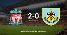 Premier League Fixtures, Burnley, Liverpool