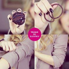 A blogueira Jéssica Belcost, do Keep Calm and DIY, elaborou um truque bem simples para prender as mangas: com elástico.
