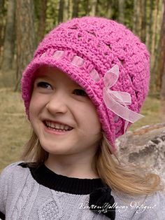 The Eden cloche uses a light and airy stitch pattern that makes this a great spring hat! It's a perfect fashion accessory for walks in the park, digging in the garden, or picking a spring bouquet. Because of its lacy design, it can be modified up or down in size using different hooks and weights of yarn.